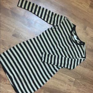 Striped velvet brand dress